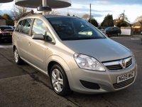 2009 VAUXHALL ZAFIRA 1.6 EXCLUSIV 5d 104 BHP £3995.00