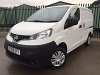 USED 2015 65 NISSAN NV200 1.5 DCI ACENTA 1d 90 BHP CARGO LINING SIDE DOORS ONE OWNER NO FINANCE REPAYMENTS FOR 2 MONTHS STC. COMMERCIAL (£7900+1580VAT). STUNNING WHITE WITH GREY CLOTH TRIM. BULKHEAD. CARGO LINING. N/S & O/S LOADING DOORS. REVERSING CAMERA. BLUETOOTH PREP. 2 SEATER. R/CD PLAYER. PAS. EW. MFSW. ONE OWNER FROM NEW. TEL 01937 849492