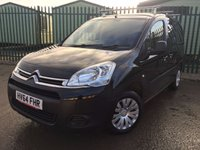 USED 2014 64 CITROEN BERLINGO 1.6 850 ENTERPRISE L1 HDI 1d 89 BHP AIR CON BULKHEAD CARGO LINING N/S LOADING DOOR PDC NO VAT NO FINANCE REPAYMENTS FOR 2 MONTHS STC. NO VAT. AIR CON. STUNNING BLACK MET WITH GREY CLOTH TRIM. AIR CON. BULKHEAD. CARGO LINING. N/S LOADING DOOR. PARKING SENSORS. 3 SEATER. R/CD PLAYER. PAS. EW. LADDER RAIL. MOT 12/18. ONE PREV OWNER. TEL 01937 849492