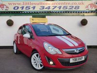 USED 2011 11 VAUXHALL CORSA 1.2 SXI A/C 3d 83 BHP 1.2 SXI, FULL SERVICE HISTORY, 2 OWNERS, FINANCE AVAILABLE