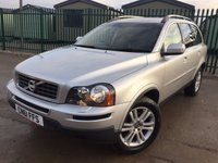 USED 2011 61 VOLVO XC90 2.4 D5 SE AWD 5d AUTO 200 BHP 7 SEATER LEATHER PRIVACY PDC FSH NO FINANCE REPAYMENTS FOR 2 MONTHS STC. 4WD. 7 SEATER. STUNNING SILVER MET WITH FULL BLACK LEATHER TRIM. ELECTRIC MEMORY HEATED SEATS. CRUISE CONTROL. 18 INCH ALLOYS. COLOUR CODED TRIMS. PRIVACY GLASS. PARKING SENSORS. BLUETOOTH PREP. CLIMATE CONTROL. R/CD PLAYER. MFSW. TOWBAR. MOT 09/18. ONE PREV OWNER. FULL SERVICE HISTORY. FCA FINANCE APPROVED DEALER. TEL 01937 849492.