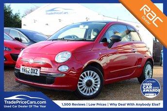 2012 FIAT 500 1.2 LOUNGE 3d 69 BHP £5950.00