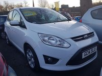 USED 2014 14 FORD C-MAX 1.6 ZETEC TDCI 5d 114 BHP CMAX WITH PARKING SENSORS, FRONT HEATED SCREEN AND ALLOY WHEELS..EXCELLENT FUEL ECOONMY!!!..LOW CO2 EMISSIONS..£30 ROAD TAX!!..FULL HISTORY...ONLY 4068 MILES FROM NEW!!