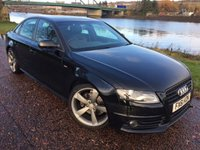 USED 2011 61 AUDI A4 2.0 TDI S LINE BLACK EDITION 4d 168 BHP **TIMING BELT DONE**