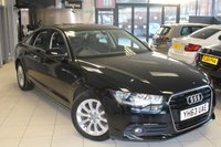 USED 2014 63 AUDI A6 2.0 TDI SE 4d 175 BHP FULL LEATHER SEATS + FULL SERVICE HISTORY + SAT NAV + BLUETOOTH + 17 INCH ALLOYS + CRUISE CONTROL + RAIN SENSORS + AUTOMATIC WIPERS + £115 A YEAR TAX