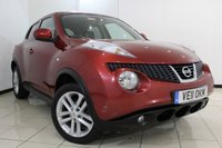 USED 2011 11 NISSAN JUKE 1.6 TEKNA 5DR 117 BHP NISSAN SERVICE HISTORY + HEATED LEATHER SEATS + REVERSE CAMERA + BLUETOOTH + CRUISE CONTROL + MULTI FUNCTION WHEEL + 17 INCH ALLOY WHEELS