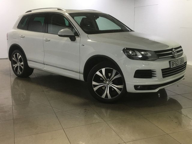 View our 2013 63 VOLKSWAGEN TOUAREG 3.0 V6 R-LINE TDI BLUEMOTION TECHNOLOGY 5d AUTO 242 BHP