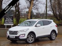 USED 2013 13 HYUNDAI SANTA FE 2.2 PREMIUM CRDI 5d 194 BHP 7 SEATS 4X4 4x4 MASSIVE SPEC, FULL LEATHER (BLACK), 7 SEATS, SAT NAV, REAR PARKING SENSORS