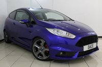 USED 2015 65 FORD FIESTA 1.6 ST-3 3DR 180 BHP FULL FORD SERVICE HISTORY + HEATED HALF LEATHER + SAT NAVIGATION + BLUETOOTH + MULTI FUNCTION WHEEL + AUXILIARY PORT + 17 INCH ALLOY WHEELS