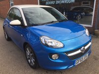 USED 2015 65 VAUXHALL ADAM 1.2 JAM 3 DOOR 69 BHP IN BLUE WITH A WHITE ROOF WITH ONLY 8000 MILES. APPROVED CARS ARE PLEASED TO OFFER THIS  VAUXHALL ADAM 1.2 JAM 3 DOOR 69 BHP IN BLUE WITH A WHITE ROOF WITH ONLY 8000 MILES FROM NEW WITH ONLY ONE OWNER,A VERY POPULAR SMALL HATCHBACK AN IDEAL FIRST CAR.