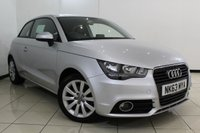 USED 2013 63 AUDI A1 1.4 TFSI SPORT 3DR 122 BHP FULL AUDI SERVICE HISTORY + BLUETOOTH + MULTI FUNCTION WHEEL + AUXILIARY PORT + AIR CONDITIONING + 16 INCH ALLOY WHEELS