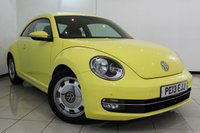 USED 2013 13 VOLKSWAGEN BEETLE 1.2 DESIGN TSI DSG 3DR AUTOMATIC 103 BHP SERVICE HISTORY + BLUETOOTH + MULTI FUNCTION WHEEL + DAB RADIO + AIR CONDITIONING + 17 INCH ALLOY WHEELS