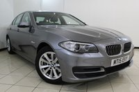 USED 2015 15 BMW 5 SERIES 2.0 520D SE 4DR AUTOMATIC 188 BHP HEATED LEATHER SEATS + SAT NAVIGATION + PARKING SENSOR + BLUETOOTH + CRUISE CONTROL + MULTI FUNCTION WHEEL + 17 INCH ALLOY WHEELS