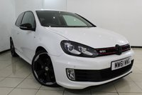 USED 2012 61 VOLKSWAGEN GOLF 2.0 GTI EDITION 35 3DR AUTOMATIC 234 BHP FULL SERVICE HISTORY + HEATED LEATHER SEATS + PARKING SENSOR + BLUETOOTH + MULTI FUNCTION WHEEL + CLIMATE CONTROL  +18 INCH ALLOY WHEELS