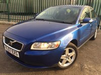 USED 2007 57 VOLVO S40 2.0 S D 4d 135 BHP AIR CON ALLOYS MOT 04/18 BLUE MET WITH GREY CLOTH TRIM. AIR CON. 16 INCH ALLOYS. R/CD PLAYER. MFSW. MOT 04/18. AGE/MILEAGE RELATED SALE. TEL 01937 849492