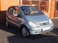 USED 2004 04 MERCEDES-BENZ A CLASS A160 SWB 1.6 5d  FSH - LADY OWNED SINCE 2004