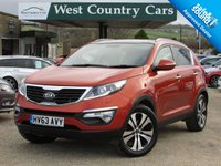 USED 2013 63 KIA SPORTAGE 2.0 KX-4 CRDI 5d 181 BHP Only 2 Owners From New, VAT Q