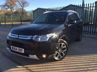 2014 MITSUBISHI OUTLANDER 2.3 DI-D GX 3 5d 147 BHP 7 SEATER SAT NAV LEATHER ONE OWNER FSH £12990.00