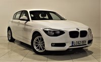 USED 2012 62 BMW 1 SERIES 2.0 116D SE 5d AUTO 114 BHP + 1 OWNER +  SERVICE HISTORY + + AIR CON + AUX + BLUETOOTH