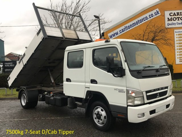 2010 60 MITSUBISHI FUSO CANTER 5.0 75 CRC 7C18D Tipper-Dropside [ Low Mileage ] 12.3ft Alloy body Ex Council Free UK Delivery