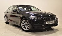 USED 2013 63 BMW 5 SERIES 2.0 518D SE 4d AUTO 141 BHP + 1 OWNER +  SAT NAV + AIR CON + SERVICE HISTORY + HEATED LEATHER SEATS