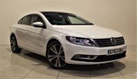 USED 2013 63 VOLKSWAGEN CC 2.0 GT TDI BLUEMOTION TECHNOLOGY DSG 4d AUTO 175 BHP + 1 PREV OWNER +  SAT NAV + AIR CON + AUX + BLUETOOTH + SERVICE HISTORY