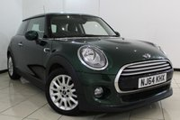 USED 2014 64 MINI HATCH COOPER 1.5 COOPER D CHILI PACK 3DR 114 BHP HALF LEATHER SEATS + SAT NAVIGATION + BLUETOOTH + CRUISE CONTROL + MULTI FUNCTION WHEEL + 15 INCH ALLOY WHEELS
