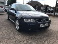USED 2002 02 AUDI A3 1.8 S3 QUATTRO 3d 221 BHP Full Service History Including Cam-Belt-Leather Recaro Seats