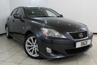 USED 2009 58 LEXUS IS 2.5 250 SR 4DR 204 BHP FULL SERVICE HISTORY + CLIMATE CONTROL + CRUISE CONTROL + MULTI FUNCTION WHEEL + RADIO/CD + 17 INCH ALLOY WHEELS