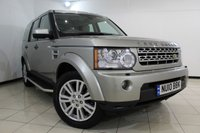 USED 2010 10 LAND ROVER DISCOVERY 4 3.0 4 TDV6 HSE 5DR AUTOMATIC 245 BHP FULL LAND ROVER SERVICE HISTORY + HEATED LEATHER SEATS + SAT NAVIGATION + SUNROOF + PARKING SENSOR + BLUETOOTH + CRUISE CONTROL + MULTI FUNCTION WHEEL + 19 INCH ALLOY WHEELS