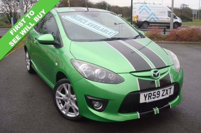 2009 59 MAZDA 2 1.5 SPORT 3d 102 BHP STUNNING COLOUR JUICE GREEN