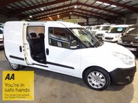 """USED 2011 61 FIAT DOBLO 1.6 16V MAX LWB  MULTIJET  CARGO COMBI CREW CAB 6d 105 BHP-ONE OWNER  """"YOU'RE IN SAFE HANDS"""" - AA DEALER PROMISE"""