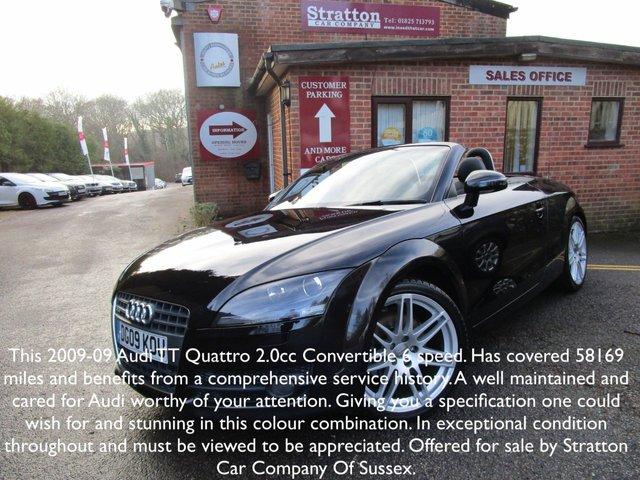 2009 09 AUDI TT 2.0 TDI QUATTRO 2d 170 BHP