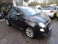 USED 2015 15 FIAT 500 0.9 TWINAIR S 3d 105 BHP 6 Speed Gearbox with 105 BHP !! Full Fiat Service History + Just Serviced by ourselves, One Owner from new, Minimum 9 months MOT, Great on fuel economy! FREE Road Tax!