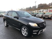 USED 2012 12 MERCEDES-BENZ M CLASS 3.0 ML350 BLUETEC SPORT 5d AUTO 258 BHP Obsidian Black, Black leather, COMAND Nav, AMG Pack, low miles