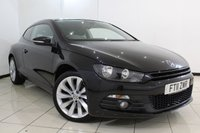 USED 2011 11 VOLKSWAGEN SCIROCCO 2.0 GT TDI BLUEMOTION TECHNOLOGY 2DR 140 BHP FULL SERVICE HISTORY + PARKING SENSOR + MULTI FUNCTION WHEEL + CLIMATE CONTROL + AUXILIARY PORT + 18 INCH ALLOY WHEEL