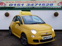 USED 2014 64 FIAT 500 1.2 S 3d 69 BHP BLUE & ME, 24,000 MILES, IMMACULATE