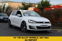 USED 2014 64 VOLKSWAGEN GOLF 2.0 GTI DSG 5d AUTO 218 BHP We are delighted to offer for sale this 2014 Vw Golf 2.0 TSi GTi 220 5dr DSG auto in white with just 27000 miles, Vw service history and 2 keys. HIGH SPECIFICATION INCLUDES SAT NAV, CLIMATE CONTROL, CRUISE CONTROL, DAB RADIO, BLUETOOTH, PARK SENSORS AND PRIVACY GLASS.