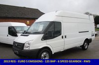 USED 2013 FORD TRANSIT 125 BHP 350 EURO 5 LWB HIGH ROOF