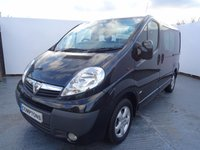 USED 2014 14 VAUXHALL VIVARO 2.0 2900 CDTI SPORTIVE DCB 1d 113 BHP 6 seater vivaro crew van with air con and alloy wheels only 38,000 miles in black metallic