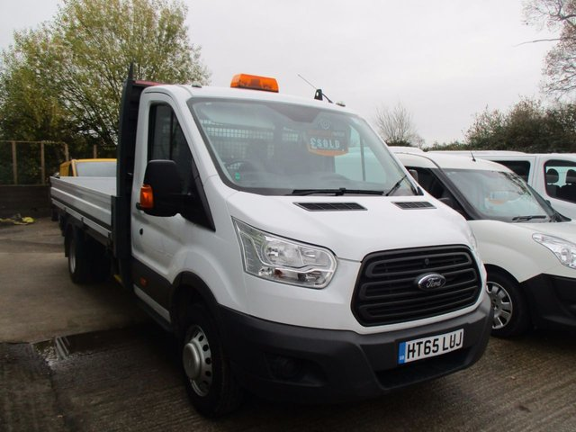 2016 65 FORD TRANSIT 2.2 350 EXTENDED FRAME DROPSIDE NEW SHAPE DRW 1d 125 BHP