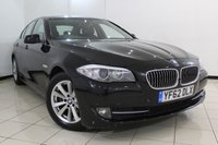 USED 2012 62 BMW 5 SERIES 2.0 520D SE 4DR AUTOMATIC 181 BHP SERVICE HISTORY + HEATED LEATHER SEATS + CLIMATE CONTROL + BLUETOOTH + PARKING SENSOR + CRUISE CONTROL + DAB RADIO + MULTI FUNCTION WHEEL + 17 INCH ALLOY WHEELS