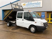2014 FORD TRANSIT 2.2 350 DRW 1d 99 BHP DOUBLE CAB TIPPER. £9250.00