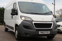 USED 2015 65 PEUGEOT BOXER 2.2 HDI 335 L3H2 PROFESSIONAL P/V 1d 130 BHP NO VAT TO PAY, SATELLITE NAVIGATION + ONE OWNER