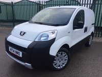 USED 2014 14 PEUGEOT BIPPER 1.2 HDI PROFESSIONAL ATV 1d 75 BHP BULKHEAD CARGO LINING N/S LOADING DOOR NO VAT NO FINANCE REPAYMENTS FOR 2 MONTHS STC. NO VAT. CLIMATE CONTROL. STUNNING WHITE WITH GREY CLOTH TRIM. BULKHEAD. CARGO LINING. N/S LOADING DOOR. R/CD PLAYER. PAS. EW. MFSW. MOT 12/18. ONE PREV OWNER. TEL 01937 849492
