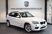 USED 2013 13 BMW X1 2.0 XDRIVE18D M SPORT 4X4 5DR 141 BHP + FULL RED LEATHER INTERIOR + FULL SERVICE HSITORY + BLUETOOTH + SPORT SEATS + DAB RADIO + AUTO AIR CONDITIONING + PARKING SNESORS + 18 INCH ALLOY WHEELS +