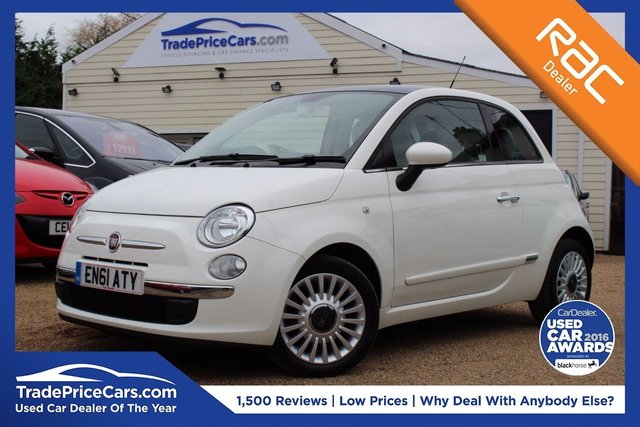 View our 2012 61 FIAT 500 1.2 LOUNGE 3d 69 BHP