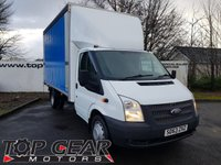 USED 2013 63 FORD TRANSIT 350 LWB 350 2.2 155 BHP CURTAINSIDER LWB