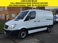 USED 2013 13 MERCEDES-BENZ SPRINTER 2.1 313CDI SWB LOW ROOF 129 BHP. AIRCON. LOW 63,000 MILES.  1 OWNER. PARKING SENSORS. LOW TAX BRACKET. FINANCE. PX WELCOME