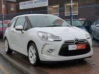 "USED 2011 11 CITROEN DS3 1.6 DSTYLE PLUS 3d  17"" WHITE ALLOYS ~ FULL HISTORY ~ CLIMATE CONTROL ~ CRUISE CONTROL ~ PRIVACY GLASS"